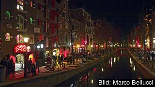 Det beryktade Red light district i Amsterdam. Arkivbild.
