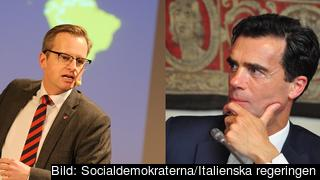 Mikael Damberg, Swedish Minister for Enterprise and Innovation and Sandro Gozi, Secretary to the Italien Prime Minister.